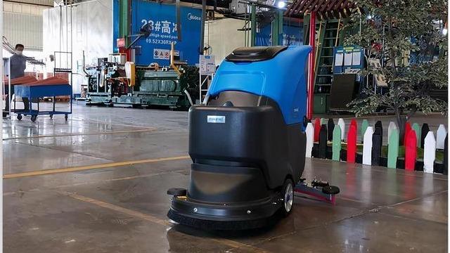 容恩R50B手推式洗地机进驻美的工厂