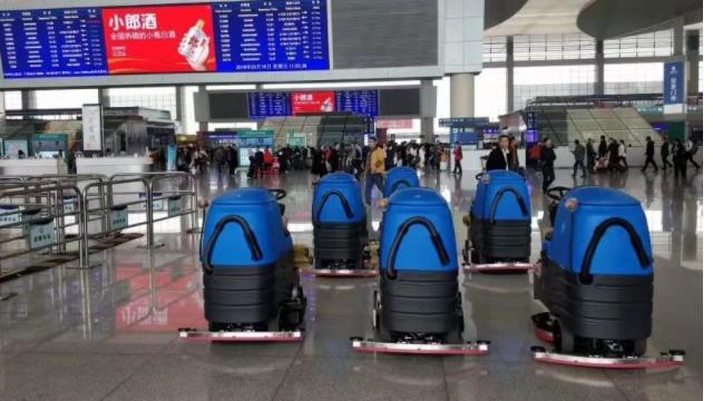 高铁站机场优选清洁设备-安全驾驶式洗地机