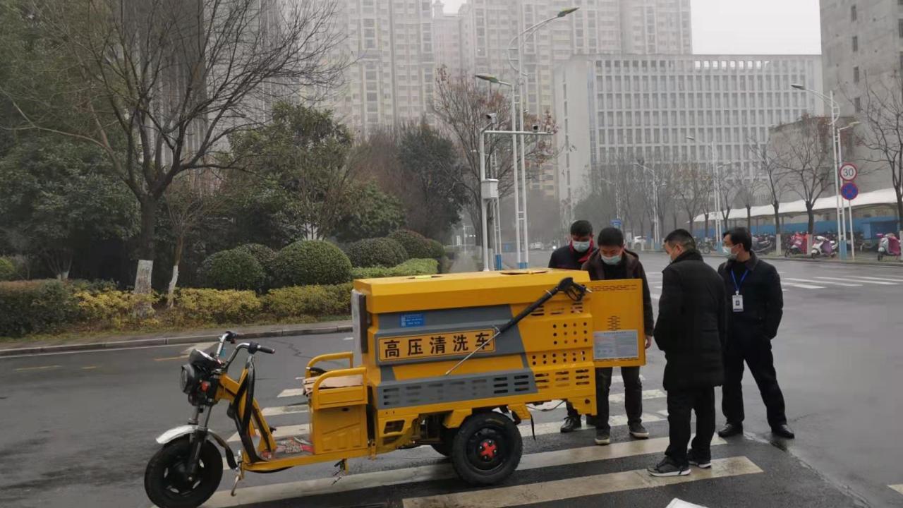 小区物业保洁必备多功能高压清洗车