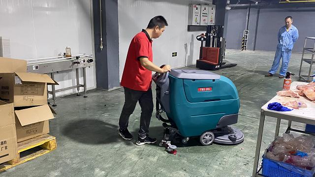 生鲜加工厂专用TBS-D5手推式洗地机