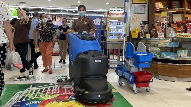 好邻居超市手推式洗地机
