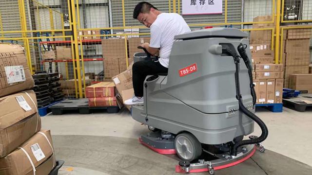 硬化水泥地面使用驾驶式洗地机效果怎么样