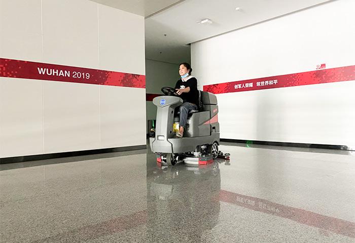 特佰仕洗地机进驻奥运奥林匹克体育中心