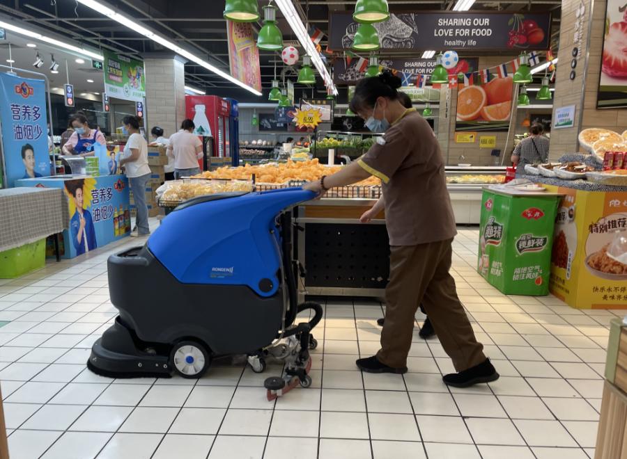 全自动手推式洗地机